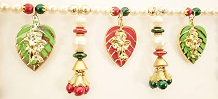 Jay Maharaj Traditional Multicolor Pan Ganesh Beads Handmade Door Hanging