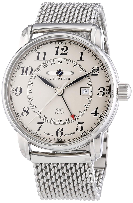 Zeppelin Herren-Armbanduhr XL LZ127 Graf Analog Quarz Edelstahl 7642M5
