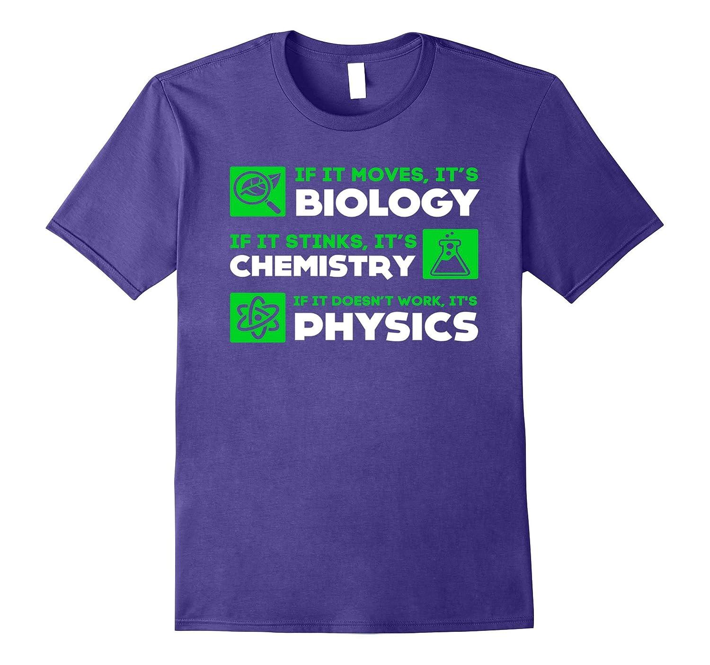 Biology Chemistry Physics Science Teacher T Shirt-FL
