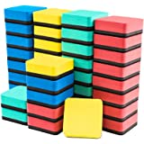Dry Erase Erasers, 40 Pack Magnetic Whiteboard Dry Erasers Chalkboard Cleaner Wiper for Classroom Home Office, 4 Assorted Col