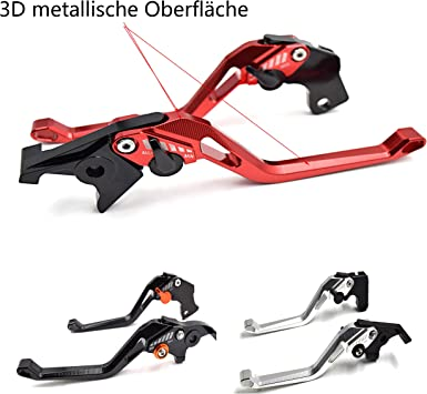 3D einstellbar Kupplungs Bremshebel Hebel f/ür SPEED TRIPLE 2004-2007//TIGER 1050 2007-2016//TIGER 800 2011-2014//DAYTONA 955i 2004-2006//SPEED FOUR 2005-2006//675 STREET TRIPLE 2008-2016 Rot