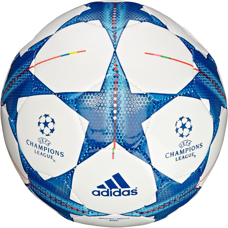 adidas Ball Finale 15 Mini Balón de fútbol, Unisex, Blanco/Azul ...