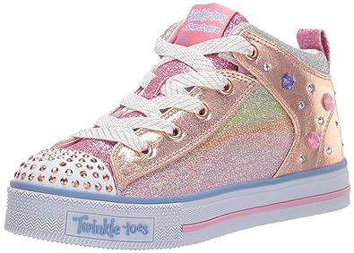   Skechers Kids' Twinkle Lite Sparkle Gem Sneaker
