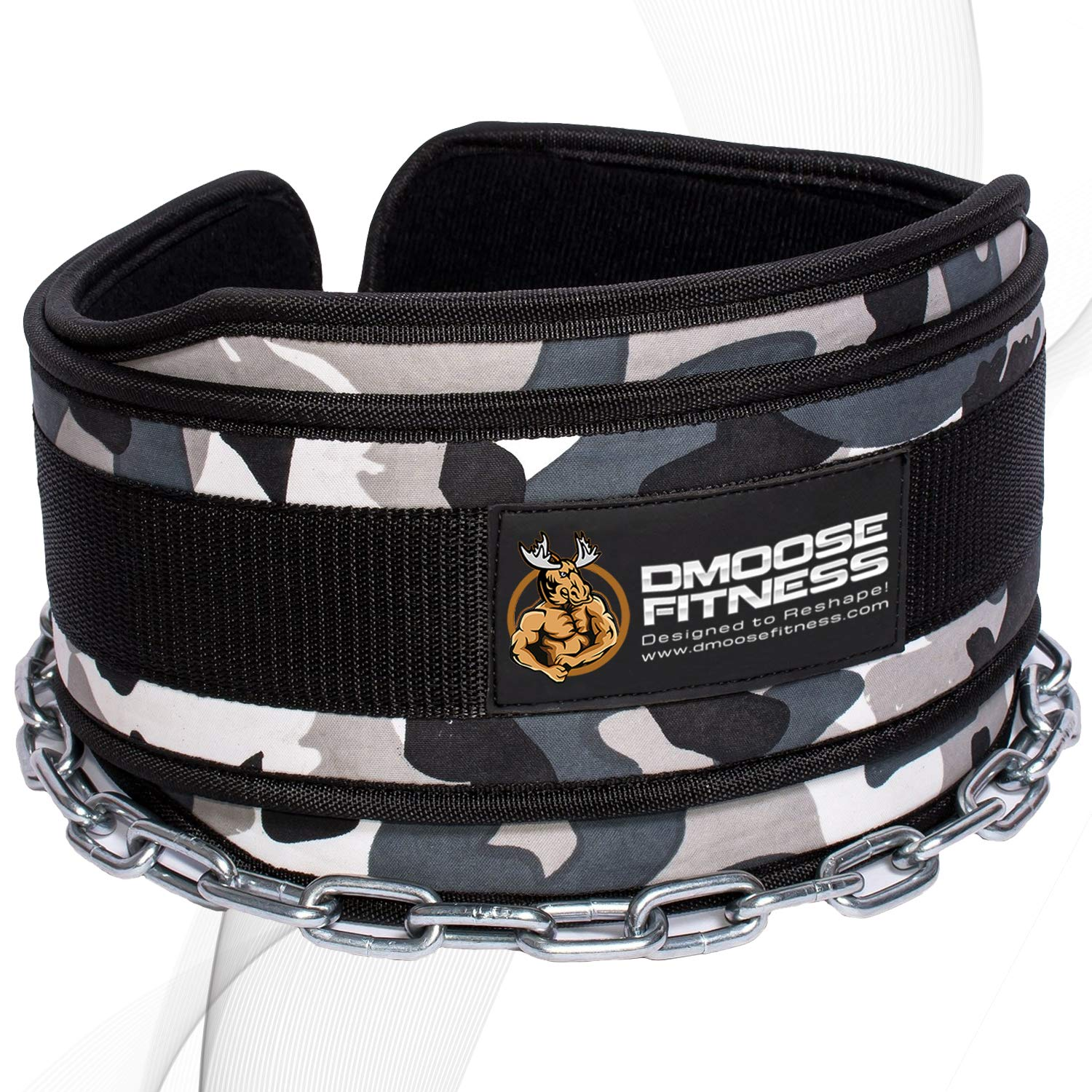 DMoose Fitness Premium Dip Belt with Chain - 36'' Heavy Duty Steel Chain, Comfort Fit Neoprene, Double Stitching - Maximize Your Weightlifting & Bodybuilding Workouts ...