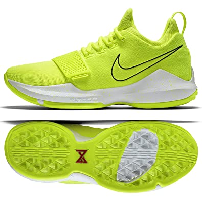 757b9b43b266 NIKE PG1 Paul George Tennis Ball 878627-700 Volt White Men s Basketball  Shoes (