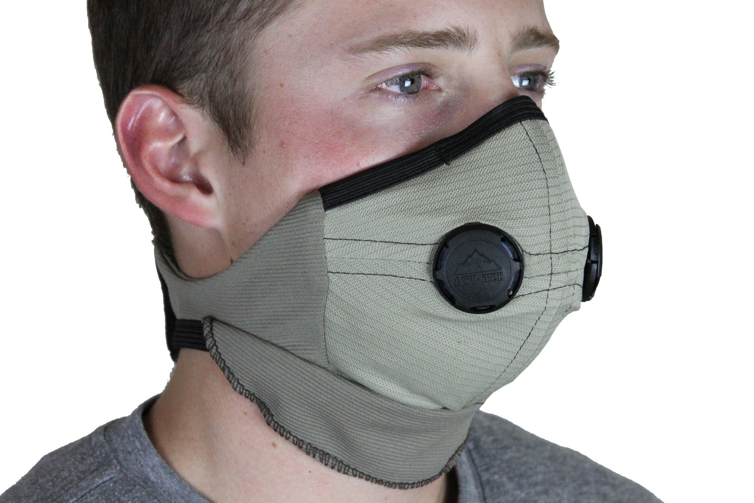 ATV Tek Pro Series Rider Dust Mask (Tan/Black, X-Large)