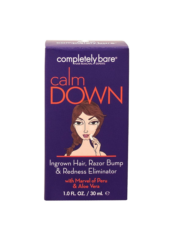 Completely Bare calm DOWN Ingrown Facial Hair, Razor Bump & Redness Eliminator