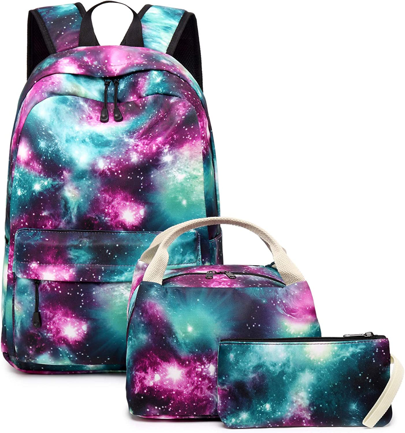 School Backpack Galaxy Teens Girls Boys Kids School Bags Bookbag with Laptop Sleeve