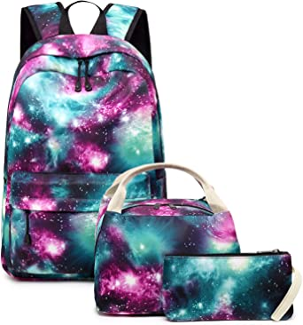 Galaxy Animal Print Men/'s Casual Backapck School Shoulder Canvas Bookbag for Boy