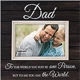 Malden International Designs Sun Washed Words Dad Distressed Black Picture Frame, 4x6, Black