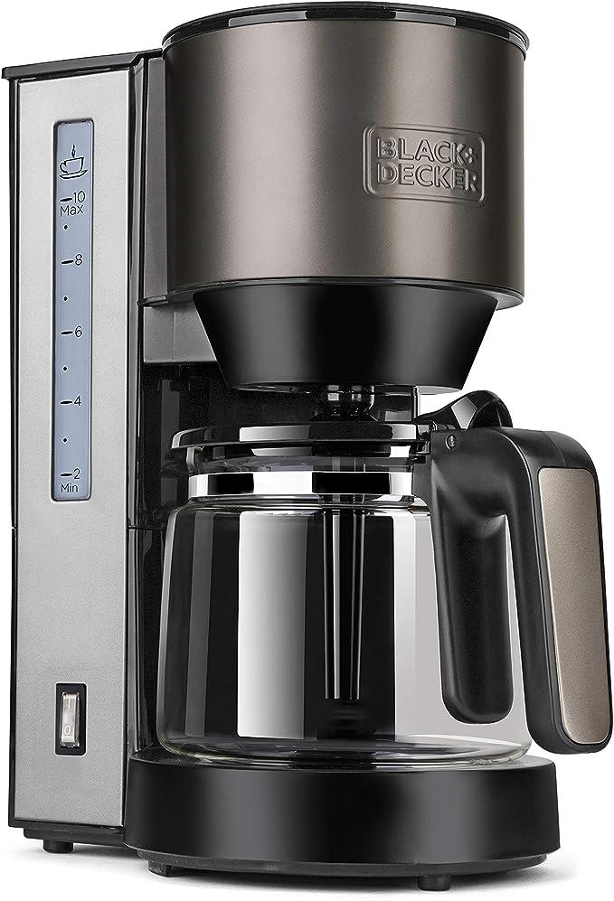 Black+Decker BXCO870E Cafetera de goteo, 870 W, 1.25 litros, Acero ...
