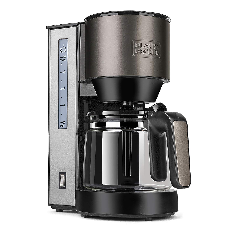 Black+Decker BXCO870E Cafetera de goteo, 870 W, 1.25 litros, Acero Inoxidable
