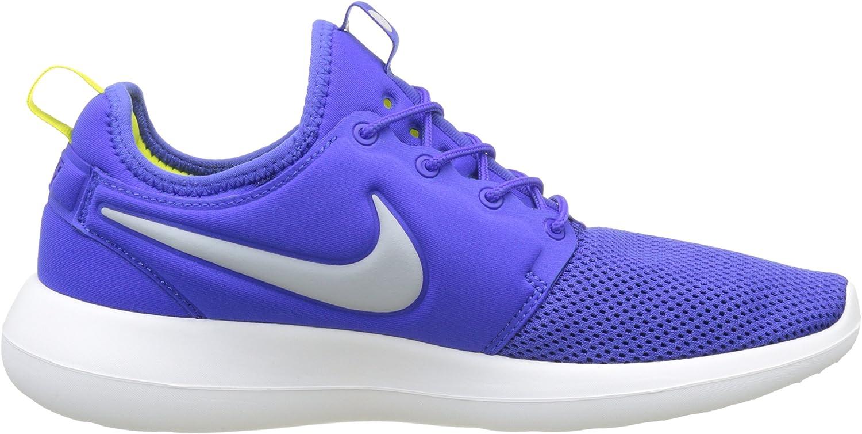 Nike Men's Low-Top Trainers Blue Paramount Blau Wolf Grau Weiß Elektrolime