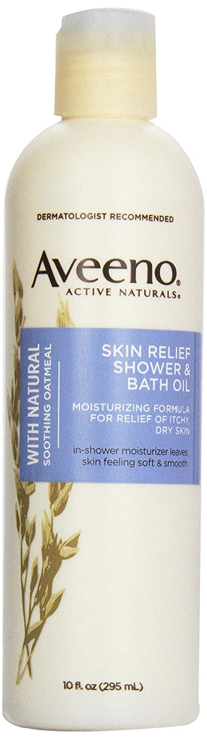 Amazon Aveeno Active Naturals Skin Relief Shower Bath Oil With Natural Soothing Oatmeal For Of Itchy Dry 10 Ounce Bottles Pack 3