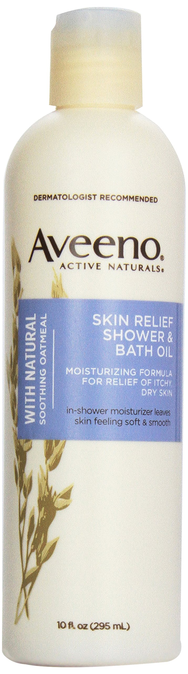 Aveeno Active Naturals Skin Relief Shower & Bath Oil with Natural Soothing Oatmeal for Relief of Itchy, Dry Skin, 10-Ounce Bottles (Pack of 3)