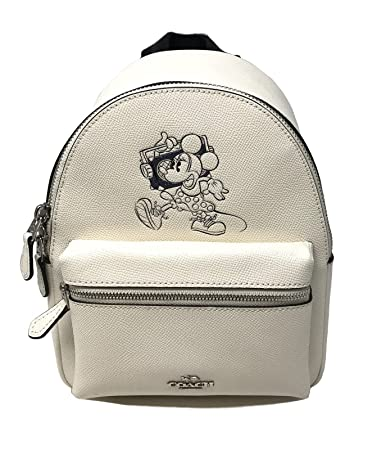 cafc20ba04 Coach Mini Charle Backpack With Minnie Mouse Motif (Chalk)