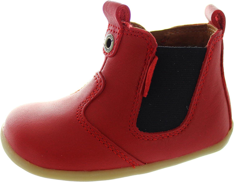 Bobux Step Up Jodphur Boot, Chaussures Souples pour bébé (Fille) Rouge Red