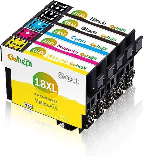 Gohepi 5 Multipack 18 XL Alta Capacidad Cartuchos de tinta ...