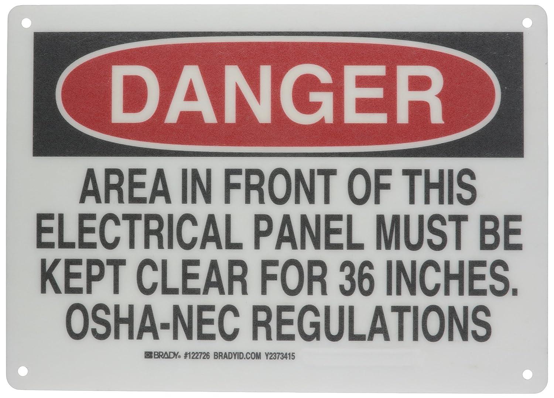 Brady 122726 Electrical Hazard Sign
