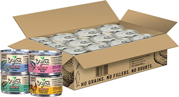 Purina Beyond Grain Free, Natural Pate Wet Cat Food Variety Pack, Grain Free - (24) 3 oz. Cans