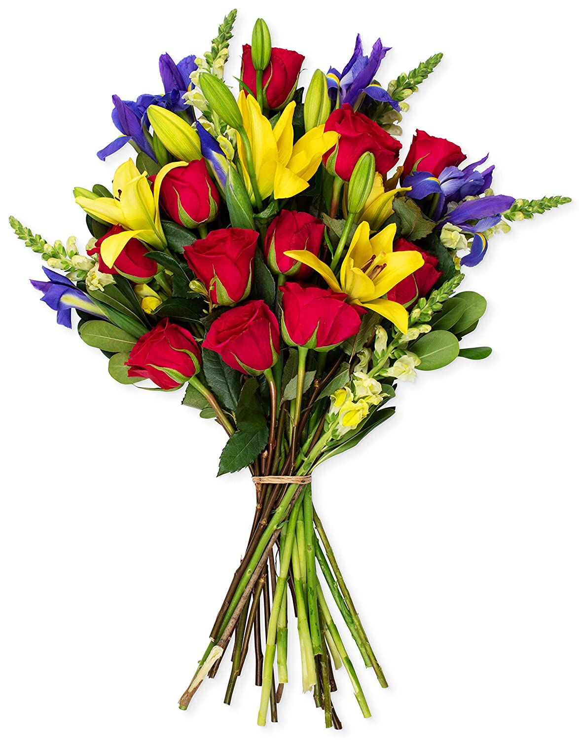 Amazon Benchmark Bouquets Joyful Wishes No Vase Fresh Cut Flowers Format Mixed Flower Arrangements Grocery Gourmet Food