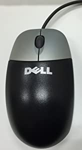 Dell Black/ Silver Optical USB 2-Button Scroll Wheel Corded Mouse Part Number: C8639, C8649, CJ339, D1161, DJ301, KD944 T0943