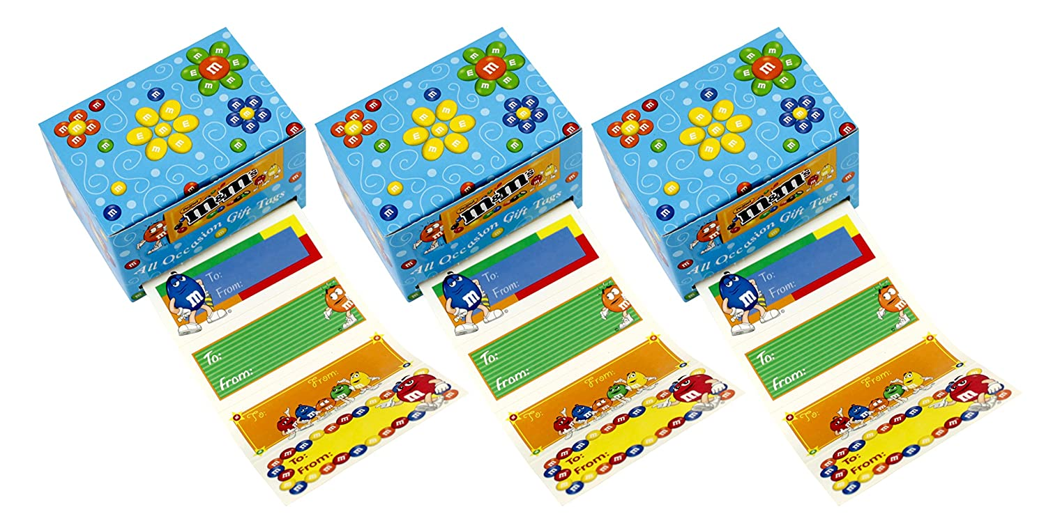 Amazon.com: M&M All Occasion Gift Tag Labels - 300 Count: Health & Personal Care