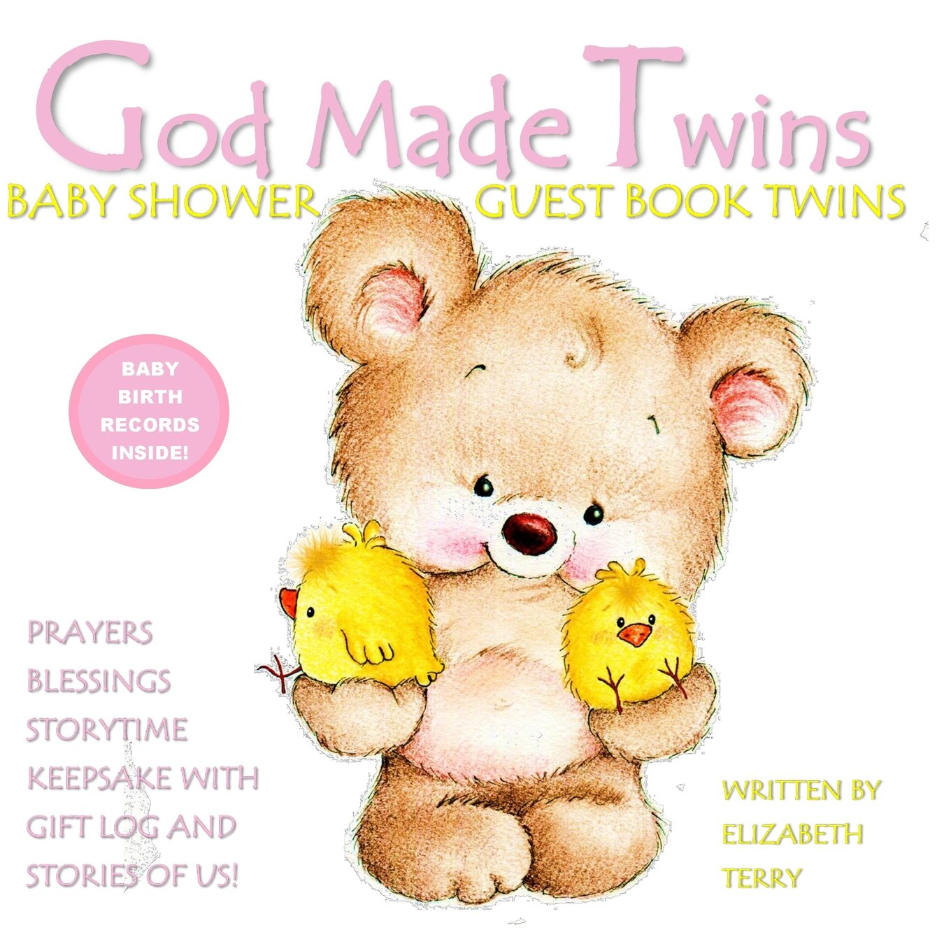 Download Baby Shower Guest Book Twins: God Made Twins: Girls Twin Baby Book for Baby Shower Guest Book Pink Grey Gray Pink and Purple (Baby Book Christian) (Volume 7) ebook