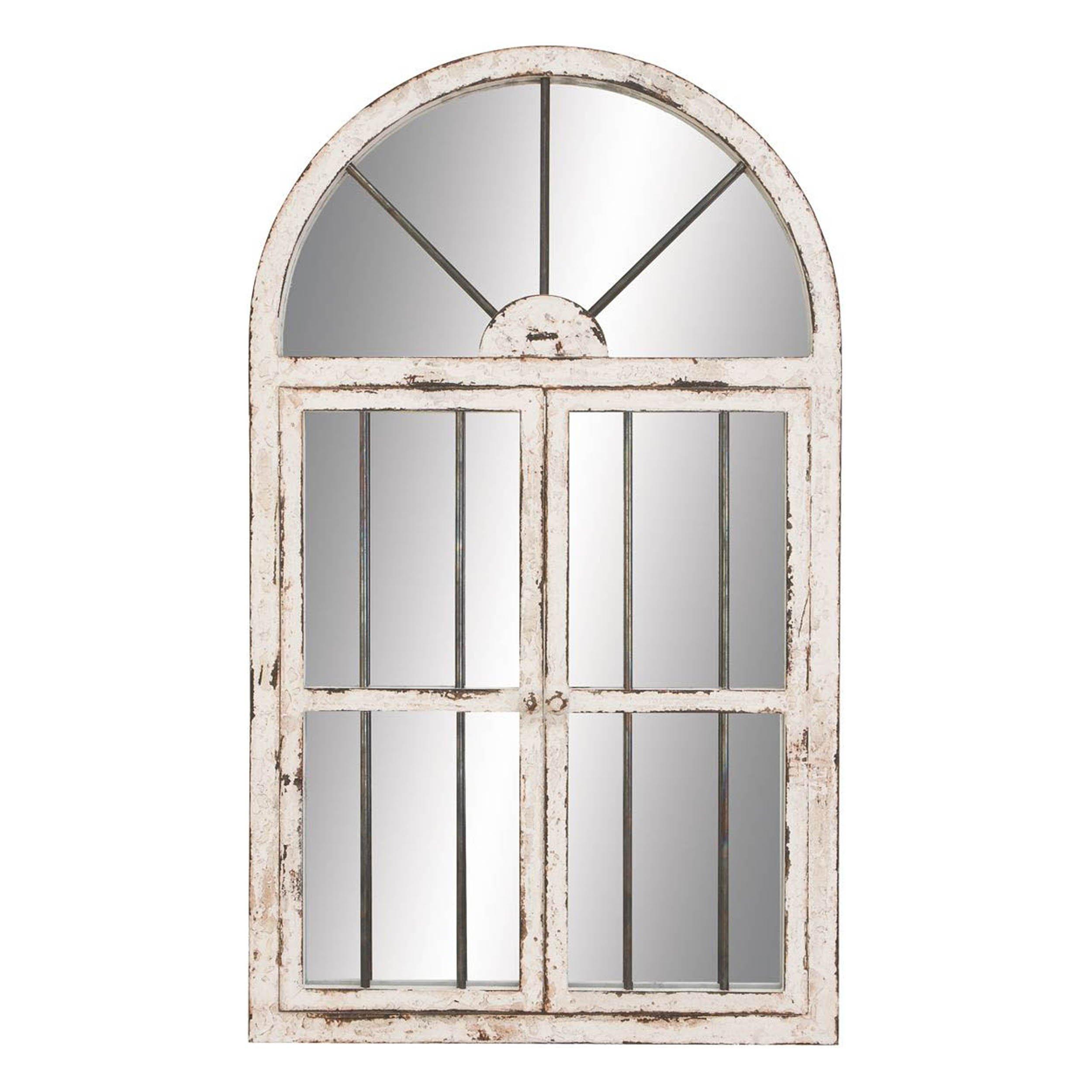 Deco 79 74397 Wood Window Mirror 42''H, 25''W -
