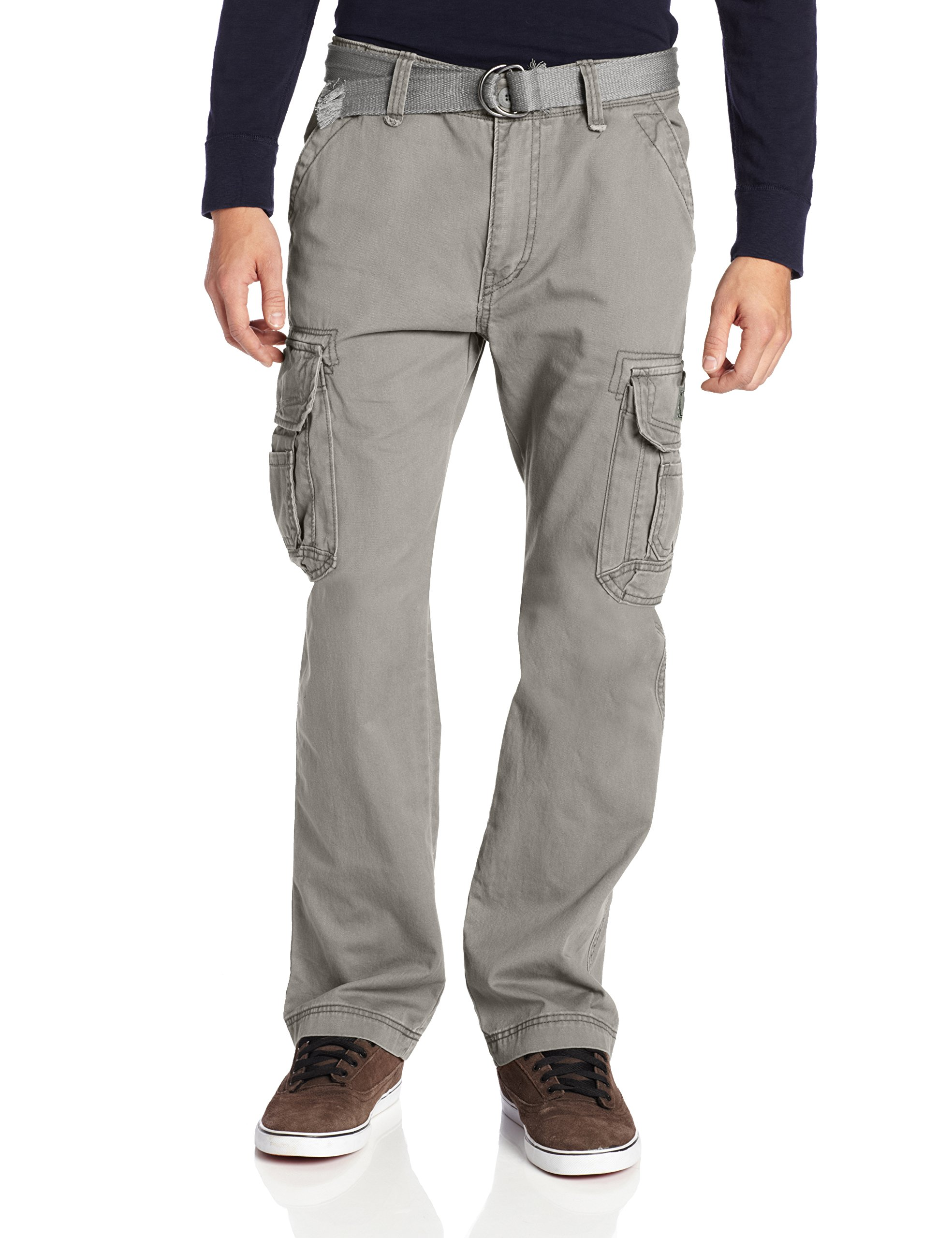Unionbay Men's Survivor Iv Relaxed Fit Cargo Pant - Reg and Big and Tall Sizes, grey goose, 46x30 by UNIONBAY