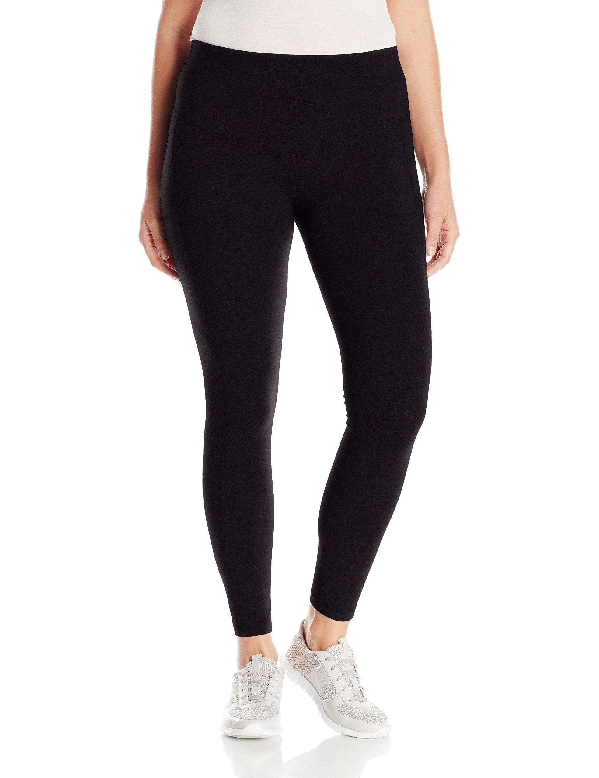 Rainbeau Curves Women's Plus Size Basix Compression Legging, Black, 2X(18/20)