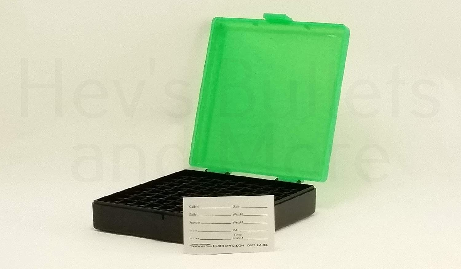 BERRY/'S PLASTIC AMMO BOXES 5 CLEAR//BLACK 50 Round 40 S/&W//45 ACP-FREE SHIPPING