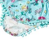Leapparel Light Blue Floral Romper Baby Girl Short