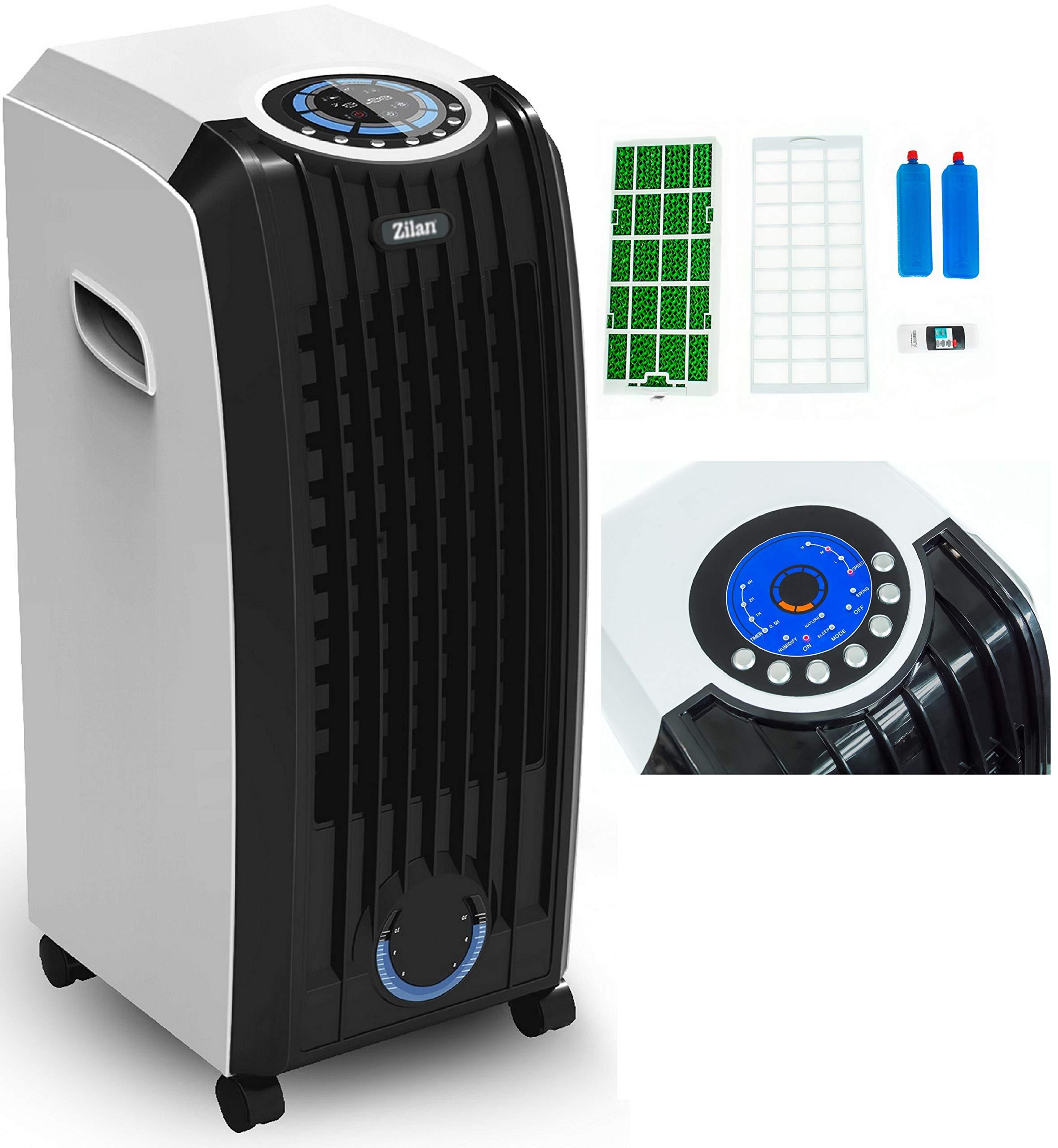 3in1 Aircooler | Mobile Klimaanlage | Klimagerät | Klima Ventilator mit Fernbedienung | Luftreiniger | Luftkühler | Luftbefeuchtung | Klima Anlage | Air Cooler | 3 Geschwindigkeitsstufen | Timer | product image