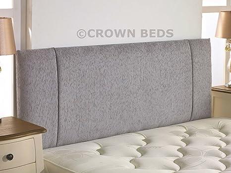 new product f8e74 0dd1c CROWNBEDSUK QUALITY PORTOBELLO CHENILLE HEADBOARD 2ft6,3ft,4ft,4ft6,5ft,6ft  (4FT6 DOUBLE, Light Grey)