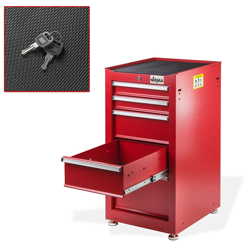 Schubladenschrank Nico 5 Schubladen rot Werkzeugschrank ...