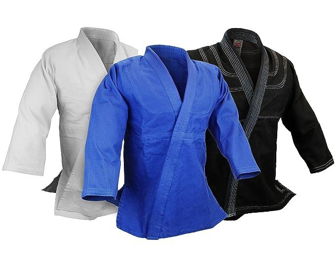 Amazon.com: Chaqueta de tejido único BJJ Jiu Jitsu Gi, 100 ...