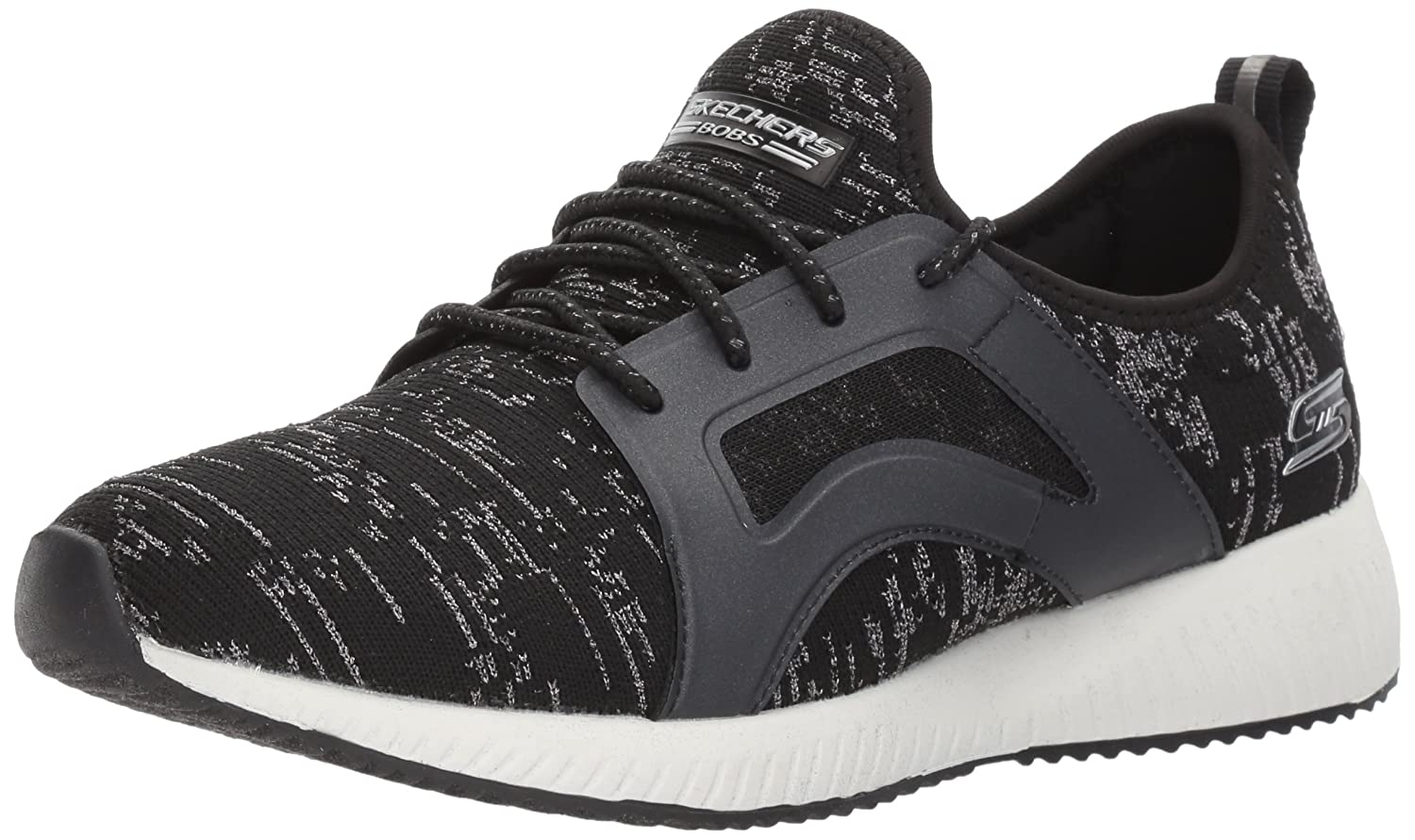 Skechers BOBS from Women's Bobs Squad-Glossy Finish Fashion Sneaker B072JHLRYN 7 B(M) US|Black