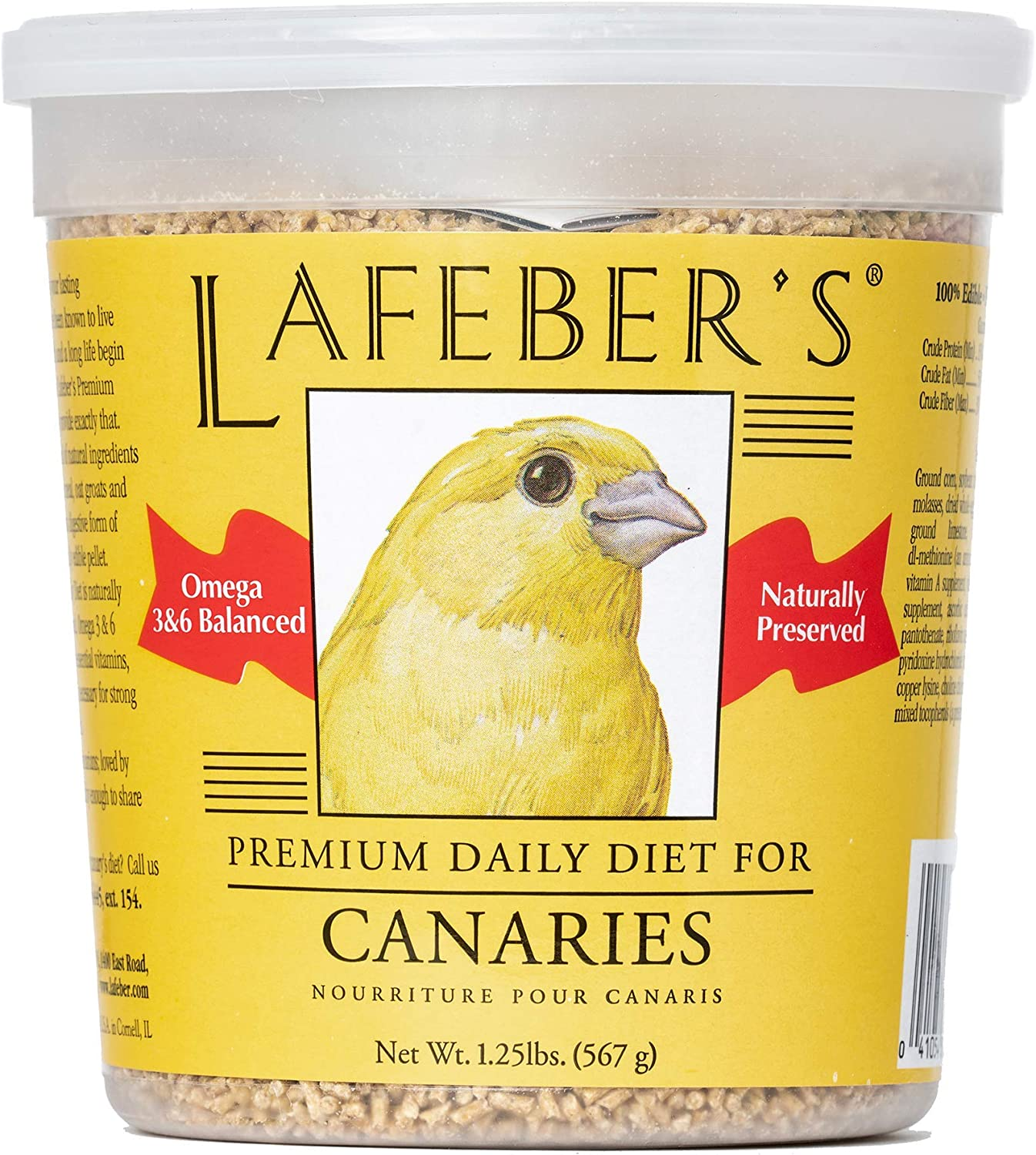 LAFEBER'S Premium Daily Diet or Gourmet Fruit Pellets Pet Bird Food, Made with Non-GMO and Human-Grade Ingredients, for Canaries