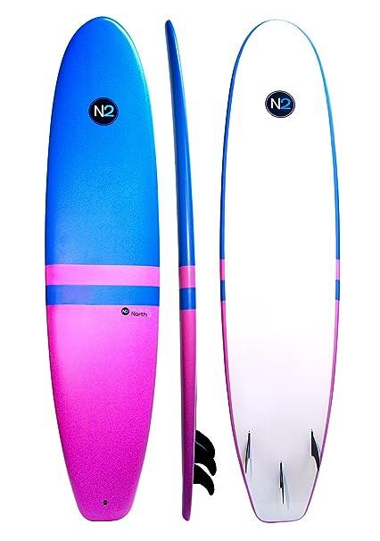 Amazon Com 8 5 North 2 Fiberglass Core Soft Top Longboard