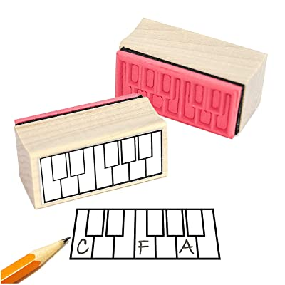 Piano Fingering Rubber Stamp: Arts, Crafts & Sewing