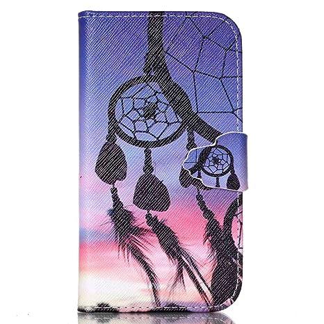 CaseHome Compatible For Samsung Galaxy S4 Mini Wallet Funda,Carcasa PU Leather Cuero Suave con Flip Case TPU Gel Silicona Billetera con Tapa Libro ...