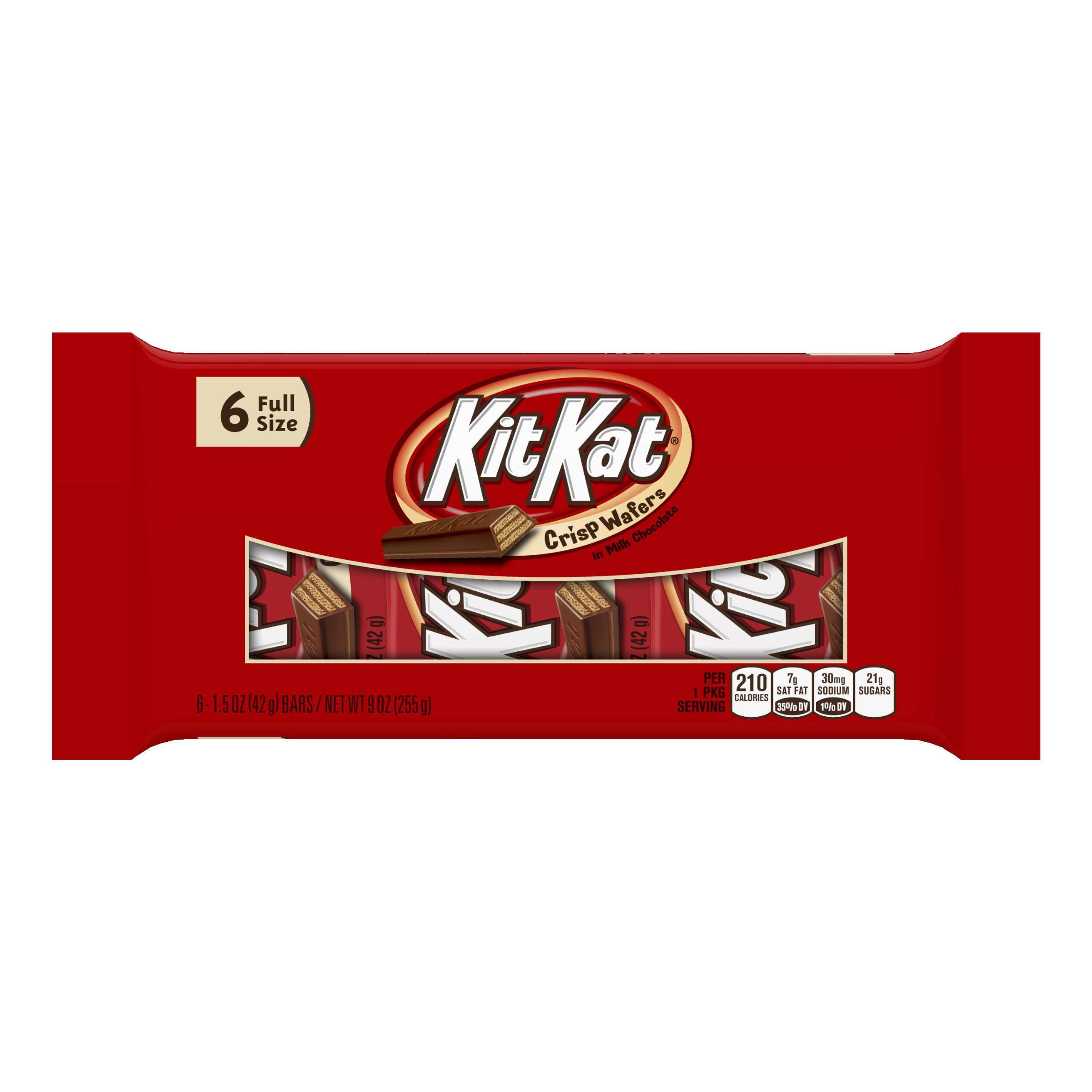 KIT KAT Chocolate Candy Bars, Halloween Candy, 6 Bars (Pack of 4)