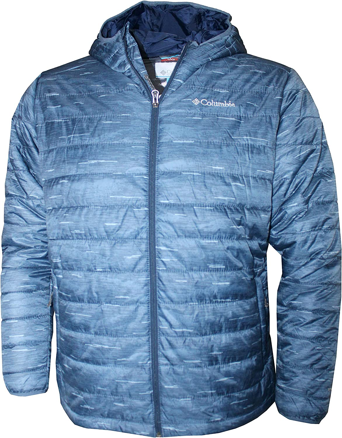 Columbia Mens Crested Butte Omni-Heat Hooded Jacket Blue