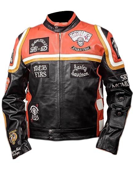 Harley Davidson Mickey Rourke Biker Piel Jacket Disfraz de ...