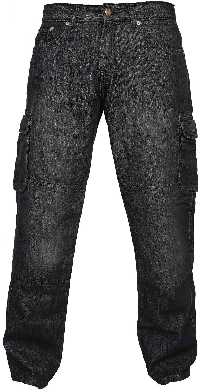 Newfacelook Denim Motorradhose Rustungen Motorrad Hose Arbeitshosen Jeans Fracht Verst/ärkt durch Aramid Schutzauskleidung