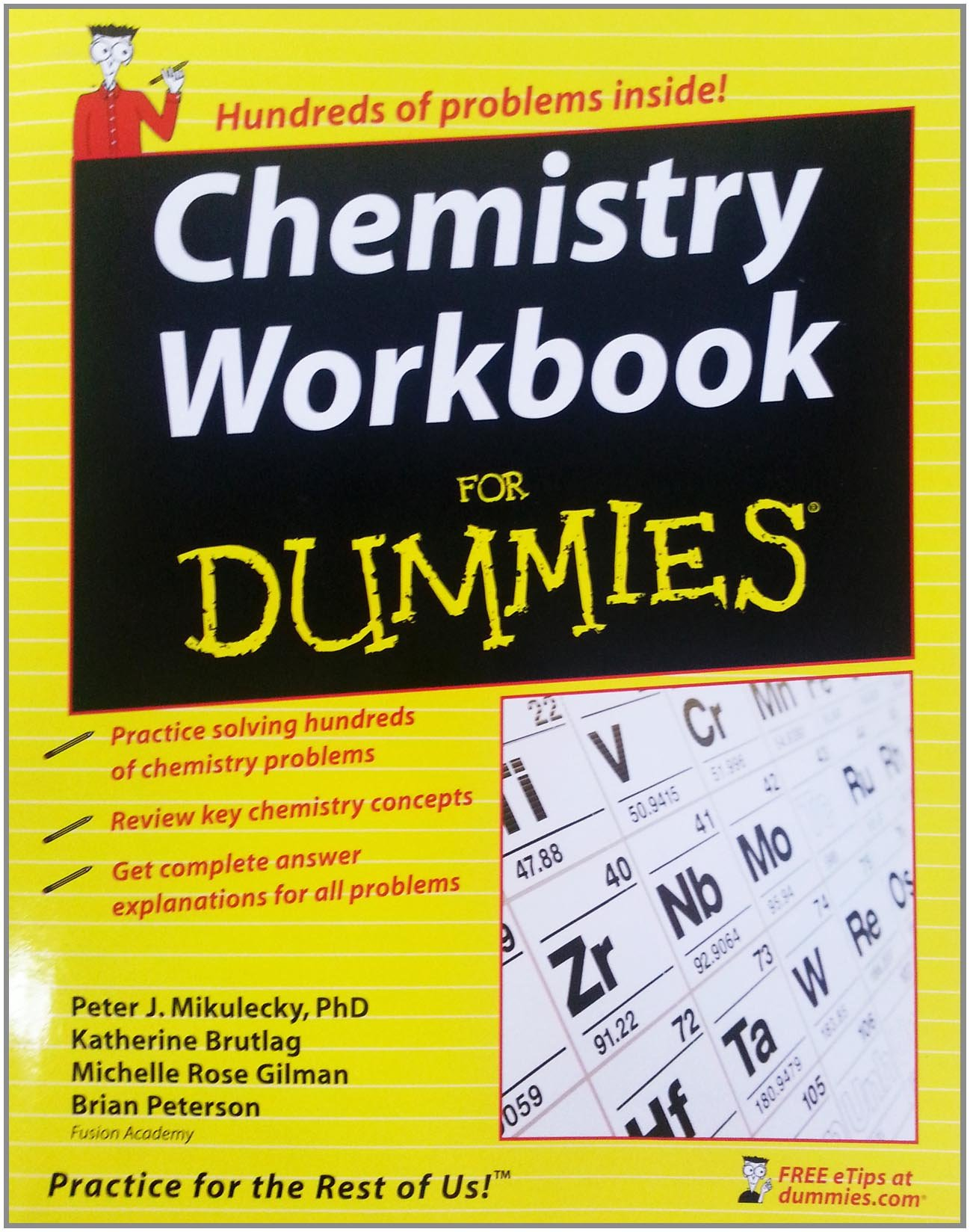 Chemistry Workbook For Dummies: Amazon.ca: Peter J. Mikulecky, Katherine  Brutlag, Michelle Rose Gilman, Brian Peterson: Books