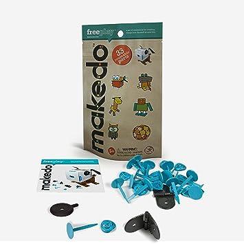 MAKE & DO Makedo 2500025 -Kit for fun - Juego Diversión (33 piezas)