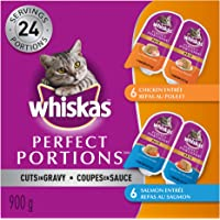 Whiskas Perfect Portions Food Trays for Cats - Chicken & Salmon - 75g (12 Pack)