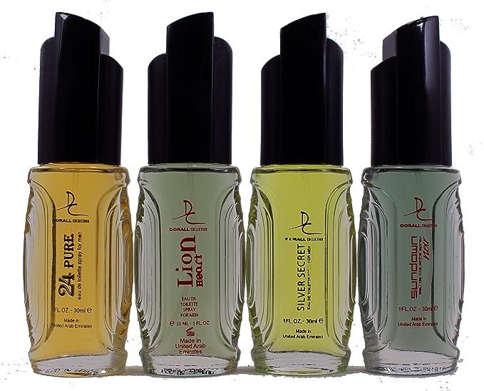 Set de 4 Perfumes Doral Dubai Para hombre 30ml cada uno . Lujo Sofisticado al mejor precio: Amazon.es: Hogar